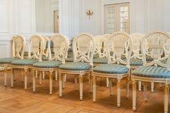 Assentos da sala de concertos do palácio Imagens de Stock Royalty Free