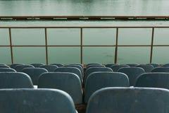 Assentos da tribuna na competição do polo Imagens de Stock Royalty Free