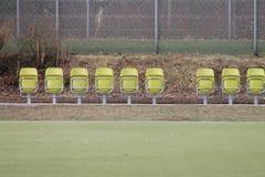 Assentos de dobradura Fotografia de Stock