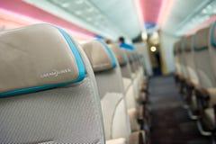 Assentos de Dreamliner Fotos de Stock