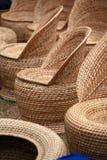 Assentos de jardim de bambu Imagem de Stock Royalty Free