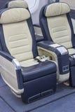 Assentos de linha aérea confortáveis vazios da classe executiva Fotos de Stock Royalty Free