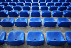 Assentos do estádio Foto de Stock Royalty Free