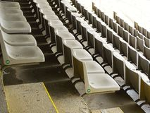 Assentos do estádio em Barcelona no feriado imagem de stock royalty free