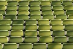 Assentos do futebol Fotografia de Stock
