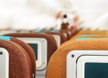 Assentos do passageiro no plano fotografia de stock royalty free