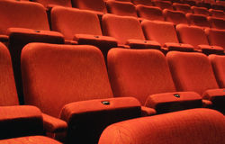 Assentos do teatro Imagem de Stock Royalty Free