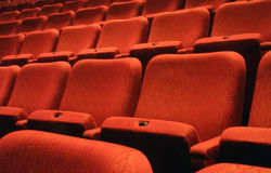 Assentos do teatro Imagens de Stock