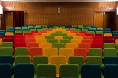 Assentos do teatro do cinema Imagem de Stock Royalty Free