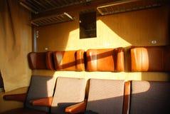 Assentos do trem Imagem de Stock Royalty Free