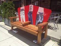 Assentos em Stamford, Connecticut da rua Fotografia de Stock Royalty Free