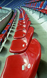 Assentos em um estádio Fotos de Stock Royalty Free