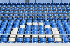Assentos no estádio Fotografia de Stock