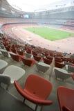 Assentos no estádio olímpico de Beijing imagens de stock