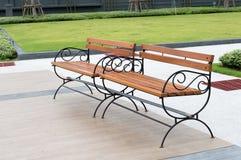 Assentos no jardim Foto de Stock