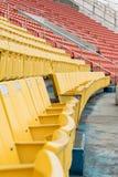 Assentos verdes do estádio Fotografia de Stock Royalty Free