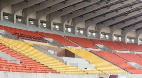 Assentos verdes do estádio Foto de Stock