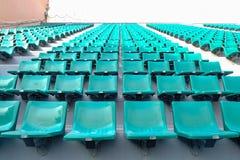 Assentos verdes no estádio do nacional de Supachalasai Fotos de Stock Royalty Free