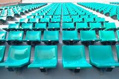 Assentos verdes no estádio do nacional de Supachalasai Fotografia de Stock