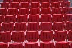 Assentos vermelhos Fotografia de Stock