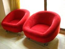 Assentos vermelhos Fotos de Stock