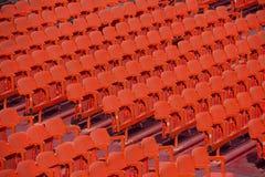 Assentos vermelhos fotografia de stock royalty free