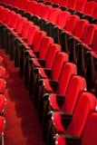 Assentos vermelhos vazios Imagens de Stock Royalty Free