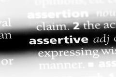 assertief royalty-vrije stock foto