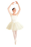Assertive ballerina dancing on points Stock Photos
