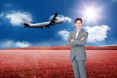 Assertive businessman standing Royalty Free Stock Photo