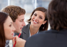 Assertive businesswoman and her team Royalty Free Stock Image