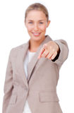 Assertive businesswoman pointing at the camera Stock Images