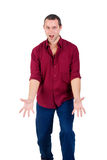 Assertive young men isolated Stock Images