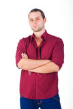 Assertive young men isolated Royalty Free Stock Images