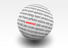 Assessment. Word ball for business assessment Stock Photography
