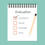 Assessment book and Quality Check Royalty Free Stock Photography