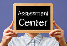 Assessment center sign Stock Photos