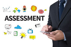 ASSESSMENT Evaluate Measurement Concept Royalty Free Stock Images