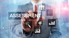 Assessment Evaluation Measure Analytics Analysis Business and Technology concept on blurred background.  stock images