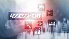 Assessment Evaluation Measure Analytics Analysis Business and Technology concept on blurred background. Assessment Evaluation Measure Analytics Analysis stock photos