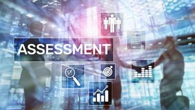 Assessment Evaluation Measure Analytics Analysis Business and Technology concept on blurred background.  royalty free stock photos