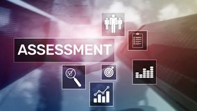 Assessment Evaluation Measure Analytics Analysis Business and Technology concept on blurred background.  royalty free stock image