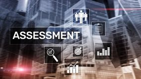 Assessment Evaluation Measure Analytics Analysis Business and Technology concept on blurred background.  royalty free stock photography