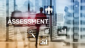Assessment Evaluation Measure Analytics Analysis Business and Technology concept o. N blurred background royalty free stock photos