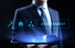 Assessment evaluation measure analytics business technology concept. royalty free stock images
