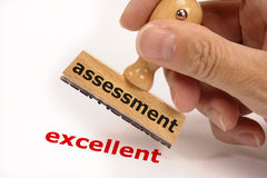 Assessment excellent. Rubber stamp marked with assessment and copy excellent stock image
