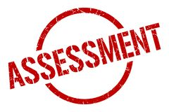 Assessment stamp. Assessment round grunge stamp. assessment sign. assessment vector illustration