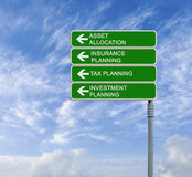 Asset allocation. Road sign to asset allocation stock photos
