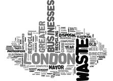 Asset Disposal In Greater London Word Cloud Stock Photo
