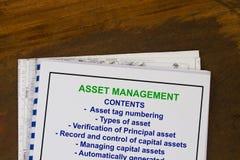 Asset management Royalty Free Stock Image
